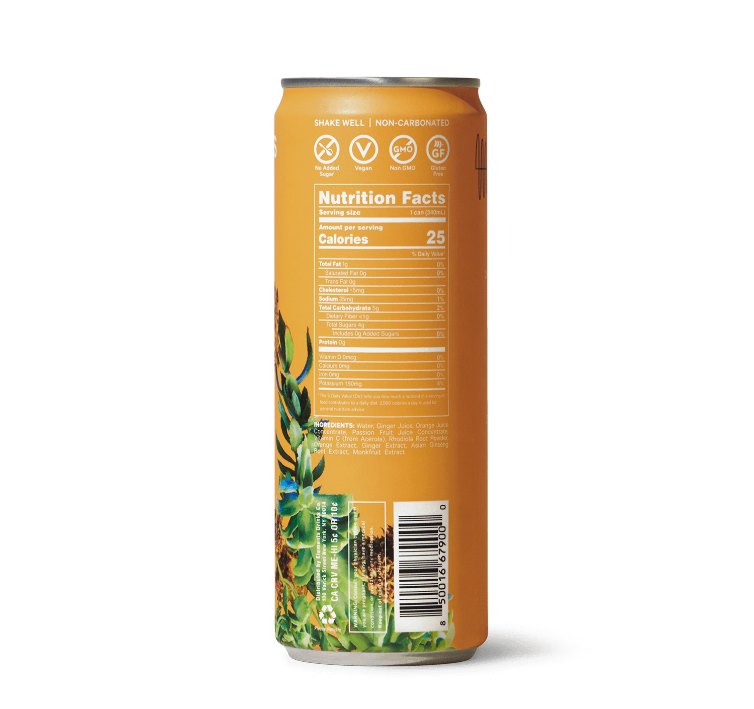 Vitality Drink Can Side